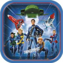"Thunderbirds Are Go 9"" Paper Plates (8)"